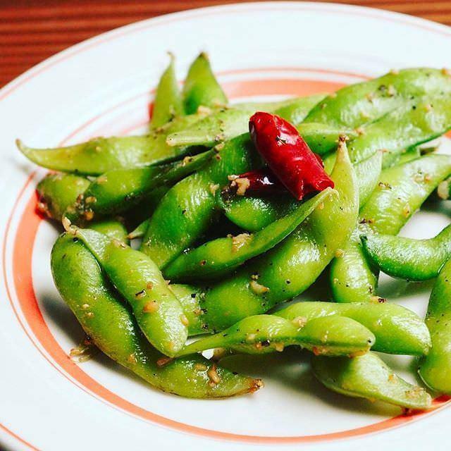 枝豆のペペロンチーノ風(¥580)