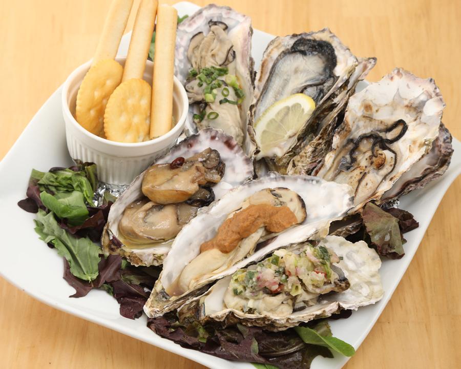 無菌牡蠣3種盛り