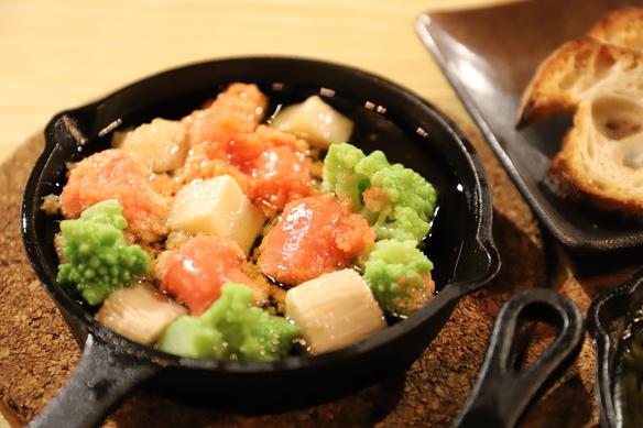 明太子と長芋の和ヒージョ