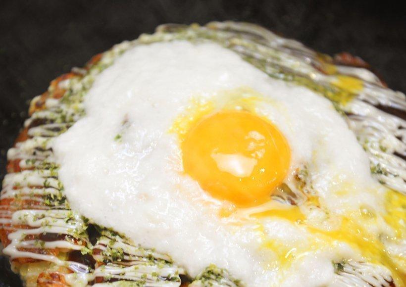 Okonomiyakiwith Pork and Grated Yam
