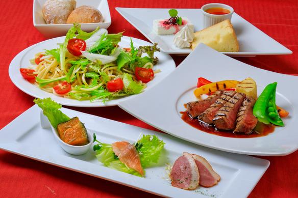 牛フィレ肉ステーキスペシャルランチコース