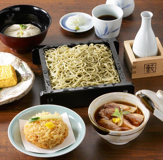 1品料理を楽しむコース(〆はせいろそばで)