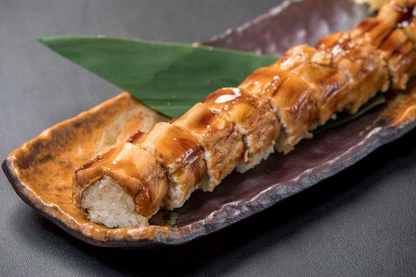 【飯】 穴子一本、棒寿司