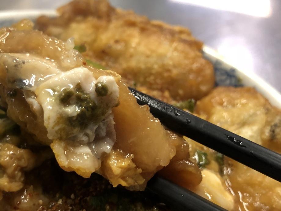 牡蠣天とじ丼
