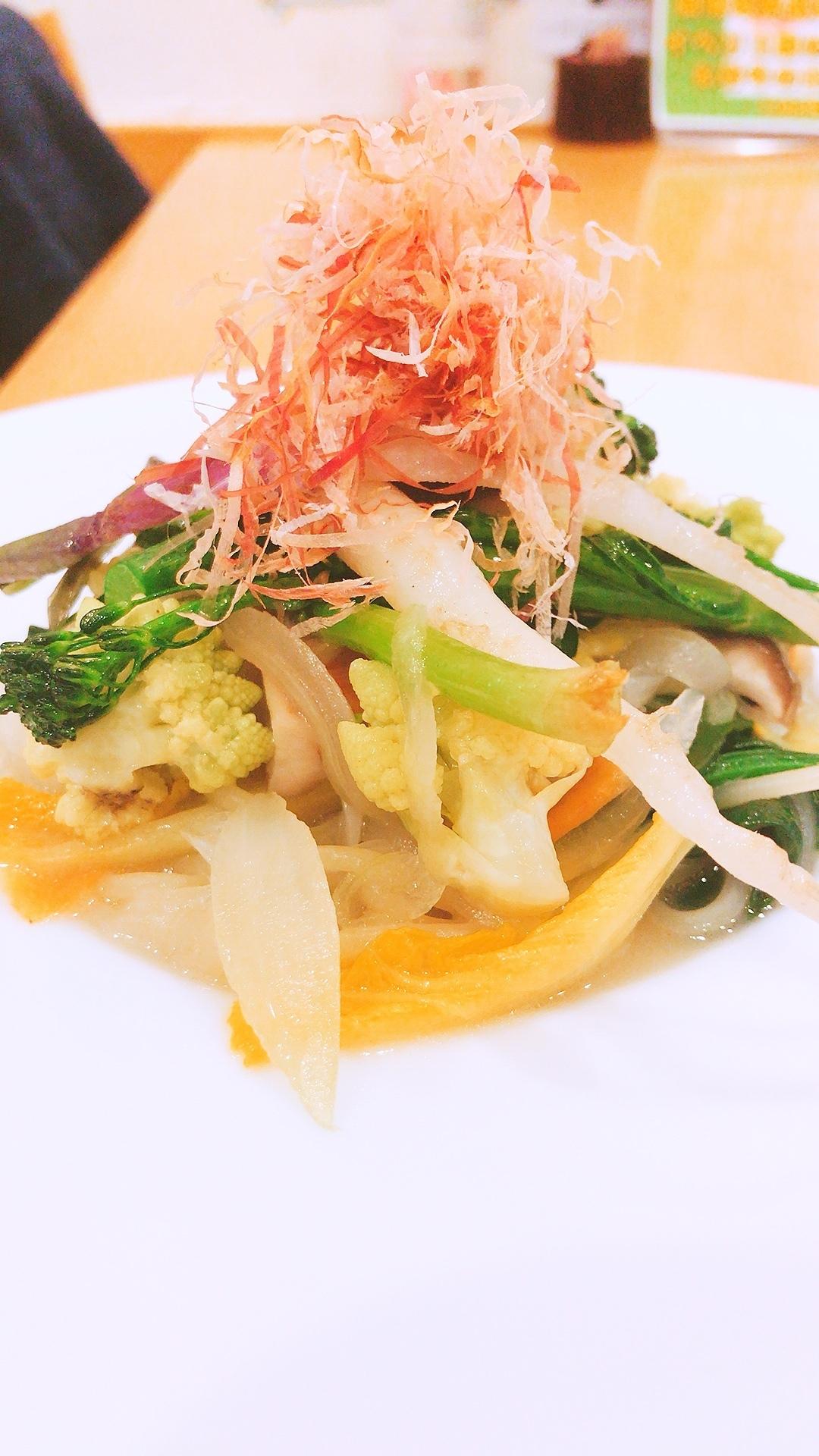 旬野菜たっぷりのほっこり和風生パスタ