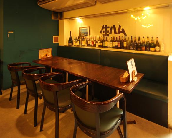 【少人数宴会】【女子会】落ち着きのあるテーブル席