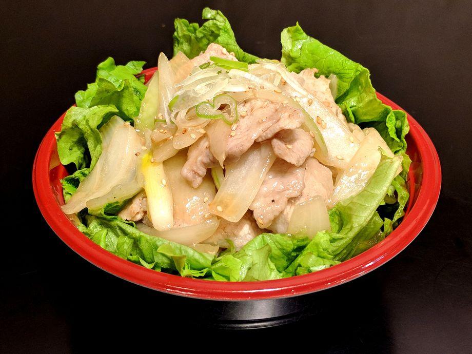 ネギ塩豚丼(準備中)