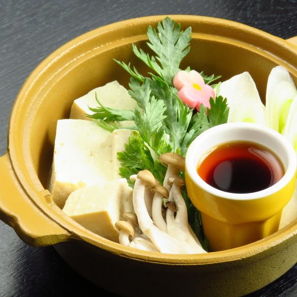 長沼 二瓶豆腐の湯豆腐