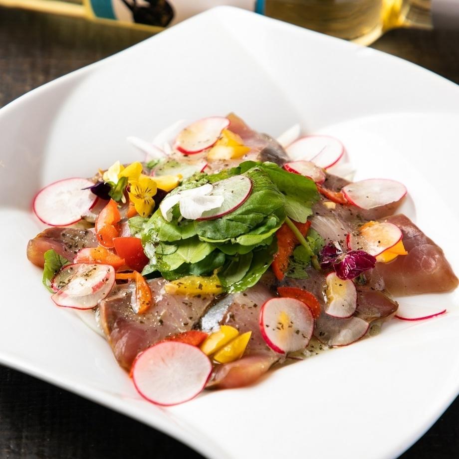 野菜のカルパッチョ~バルサミコソース掛け~