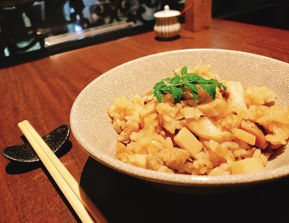 竹の子と若鶏の炊き込みご飯