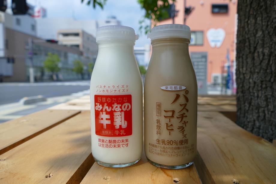 東毛酪農直送 朝絞り牛乳・コーヒー牛乳(150円(税込162円))