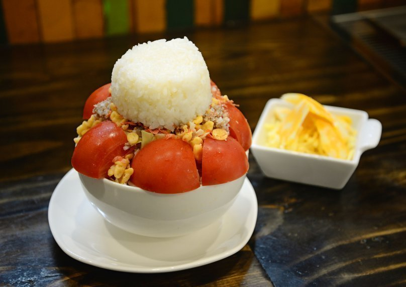 トマトチーズ もんじゃ