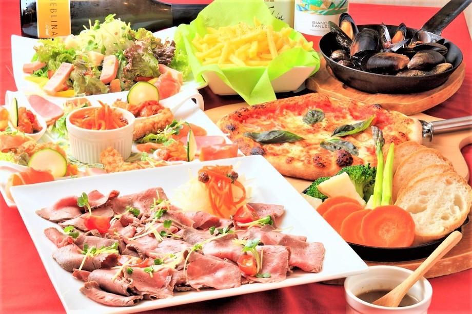 ★[ディナー]2名様~彩り野菜のチーズラクレットとローストビーフシェアコース