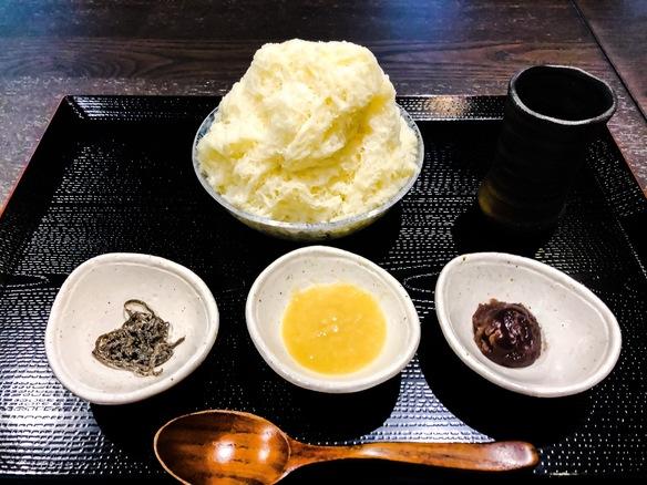 糀甘酒の豆乳かき氷セット