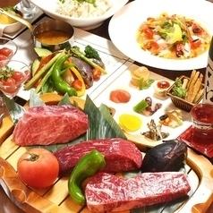 【贅沢肉肉コース!A4厳選和牛かたまりステーキ3種食べ比べ】全8品2H飲み放題付8000円→5500円(5500円)