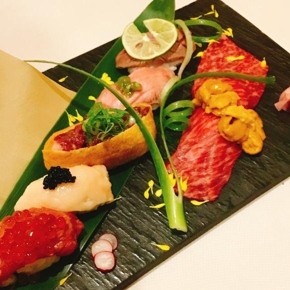 肉の寿司盛り合わせ(特上)