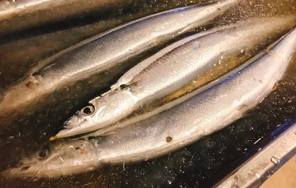 秋刀魚の大葉くるくる巻き焼き