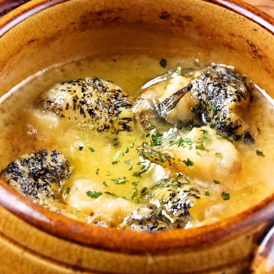 つぶ貝のガーリックバター焼き