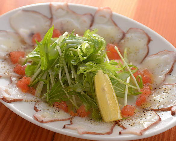 生タコの塩麹カルパッチョ