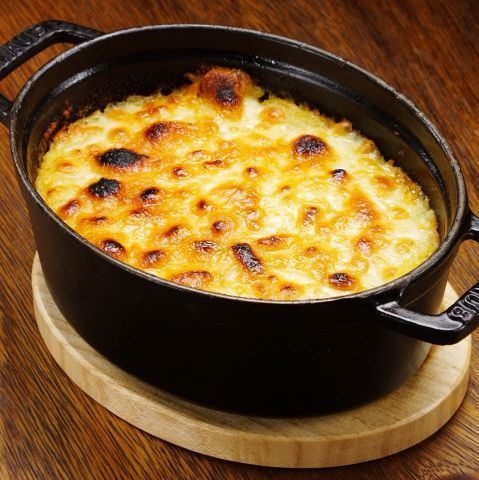挽き肉とマッシュポテトのチーズ焼き