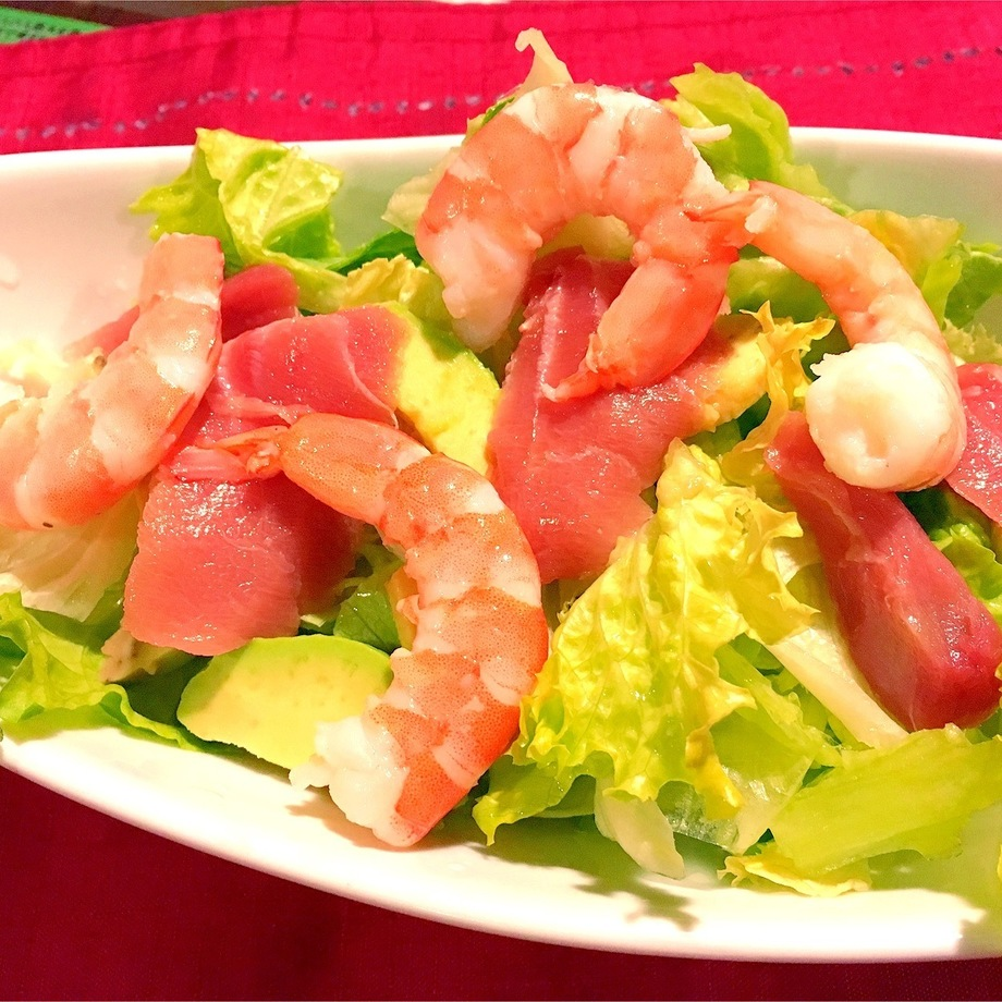 海老とアボカドのサラダ(780円)