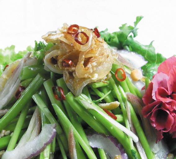 空芯菜とピーナッツのベトナム風サラダ