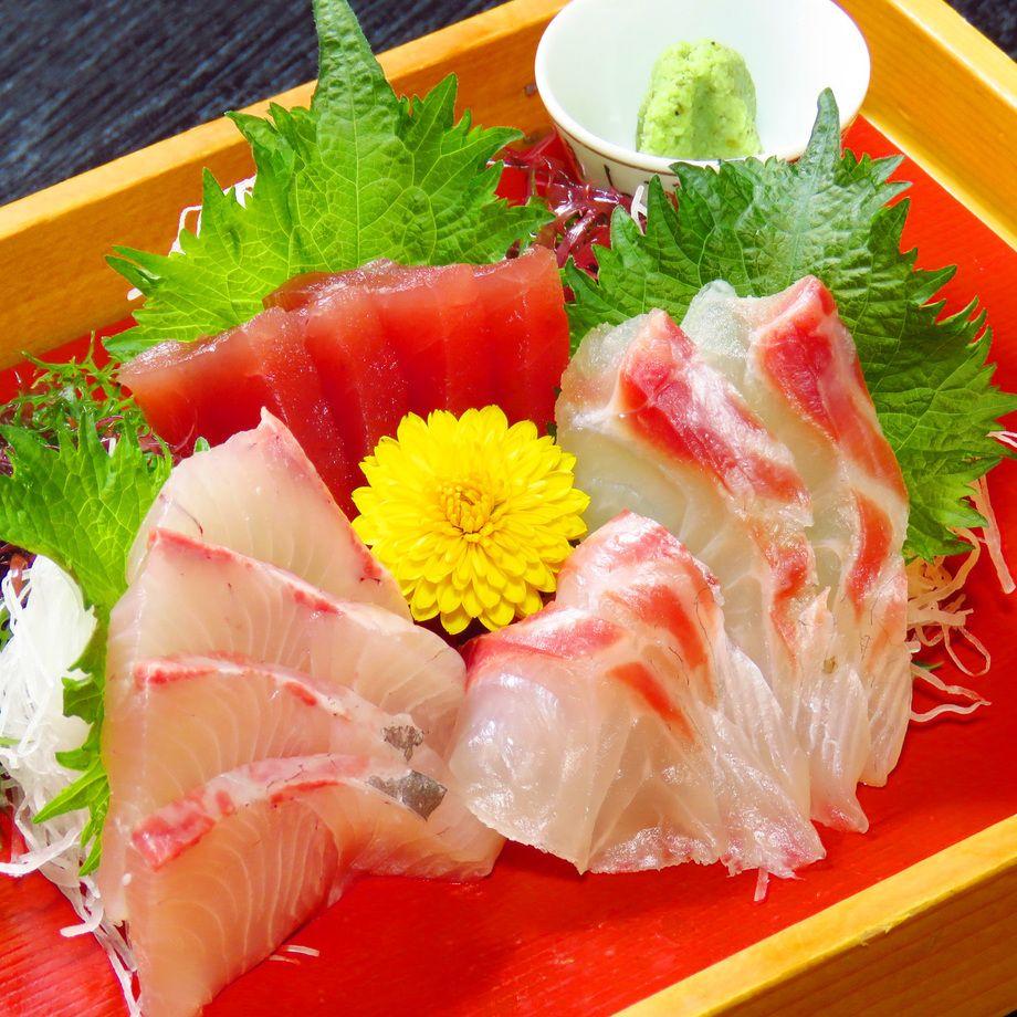 本日入荷 鮮魚のお造り(1280円~)