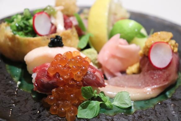 ★SNSで話題の肉の寿司全8品『肉の寿司コース◆特上◆』3500円(税抜)