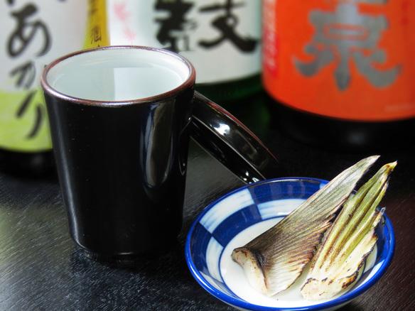 ふぐのヒレ酒(笹の川)※季節限定