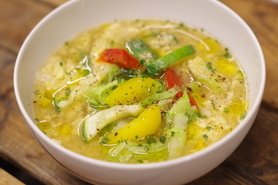 有機野菜の卵スープ