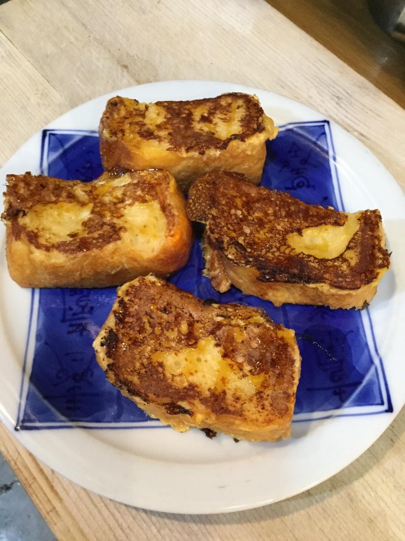 天然酵母の米粉パンのフレンチトースト‼️