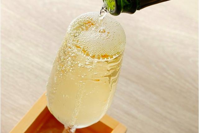 こぼれ枡(ます)スパークリングワイン(白)