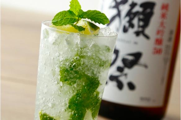 日本酒「獺祭」のモヒート