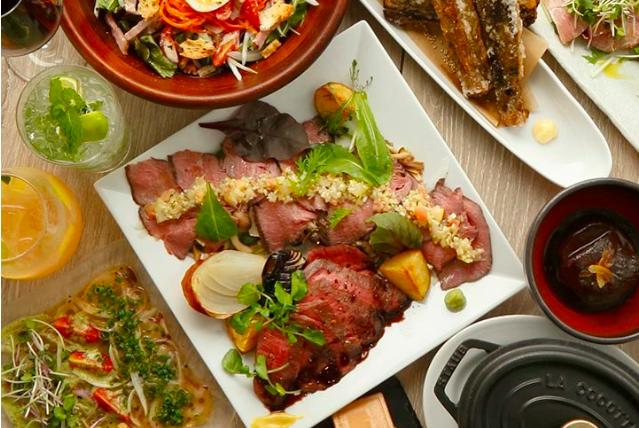 【飲み放題2h付】 ステーキ・豪華海鮮盛り合わせ・和牛ローストビーフ寿司付き