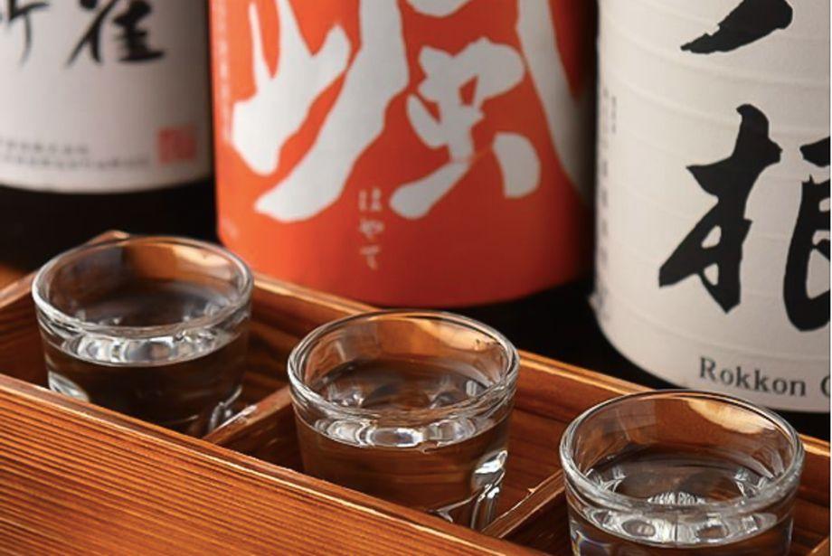 日本酒飲み比べ3種(1000円)