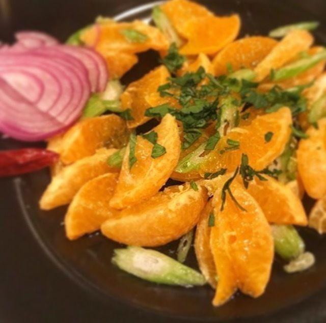 タロッコオレンジのシチリア風サラダ(600)
