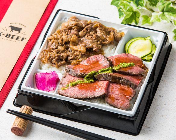 【2種盛り】厳選赤身&たっぷり牛バラすき焼き弁当