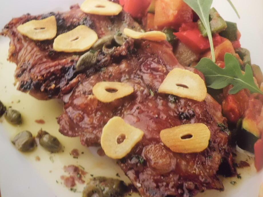 山口県産 長州黒かしわ鶏股肉の軽くスモークしたディアボロ