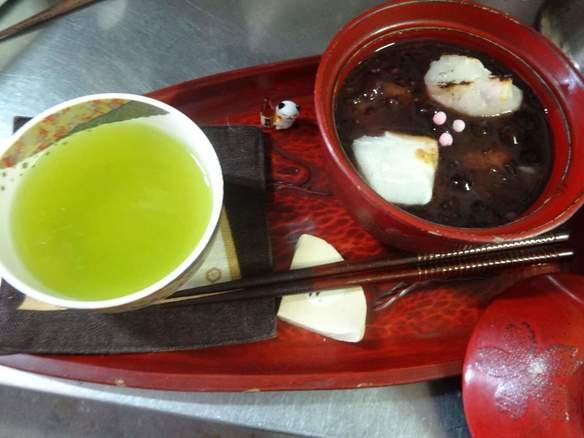 古代米入りおしるこ
