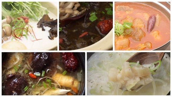 薬膳soup 5種類からお選びいただけます。ランチタイム 11:00~15:00(L.O.14:00)