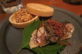 旬の魚介で構成された、おまかせ前菜盛合わせ