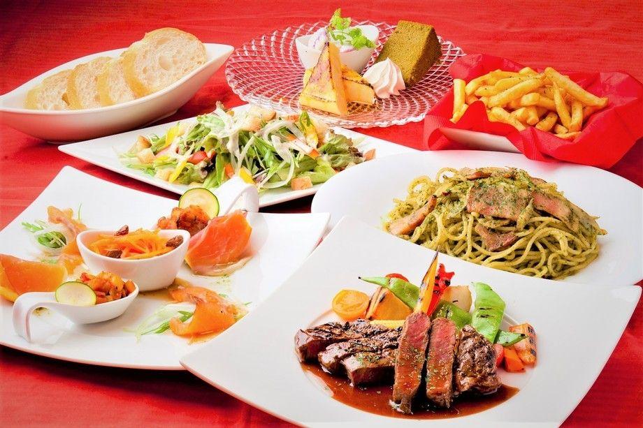 ★[ディナー]2名様~記念日におススメ!牛フィレ肉ステーキ赤ワインソースとチーズラクレットのシェアコース