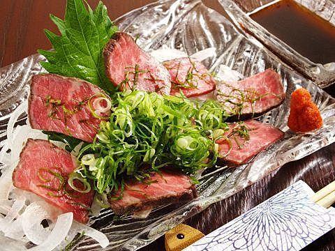 牛肉のたたき(ローストビーフ風)