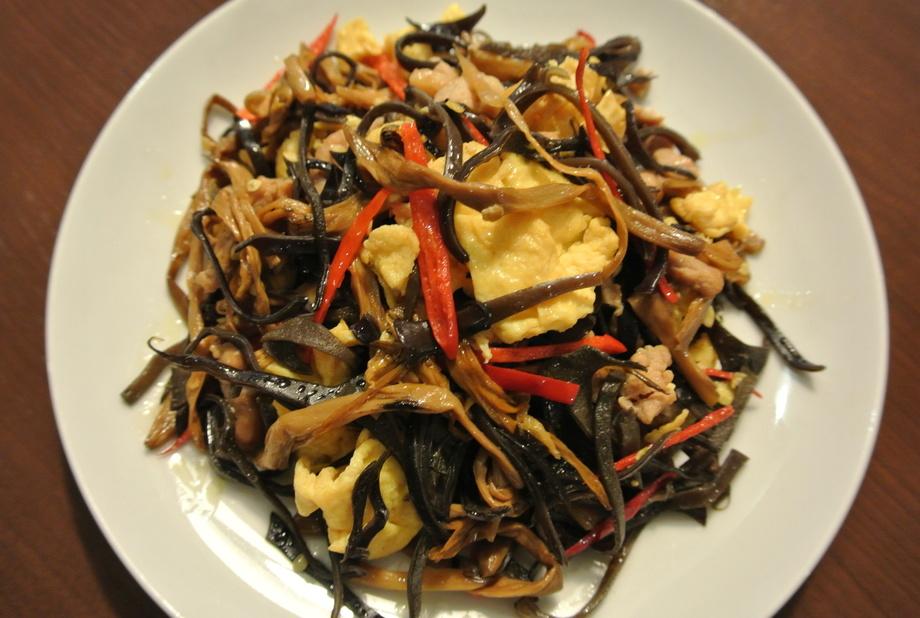 【肉料理】コリコリ木耳と卵の炒め