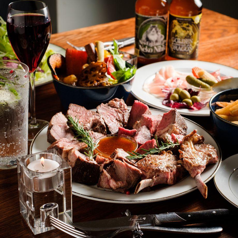 【10月限定】炭火焼き牛肉食べ放題4種含む「秋の牛祭りコース」全10品