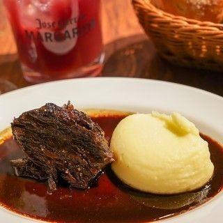 『平日限定』【名物】牛ホホ肉の赤ワイン煮込みが食べれるカジュアルコース(料理のみ)