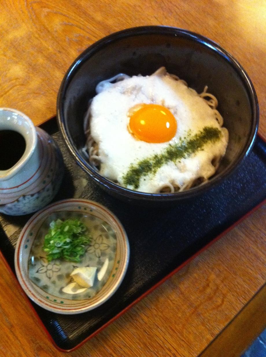 山かけ蕎麦(¥920円)