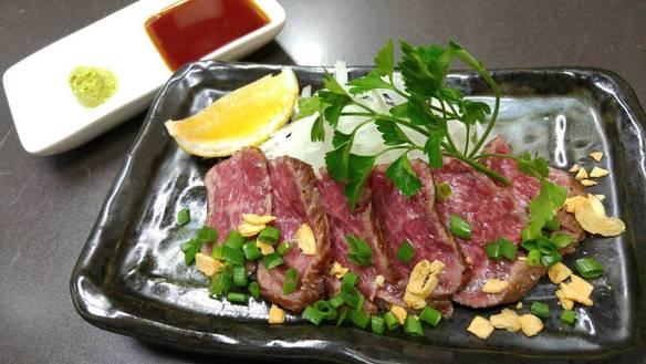 田村牛の薄切りステーキ