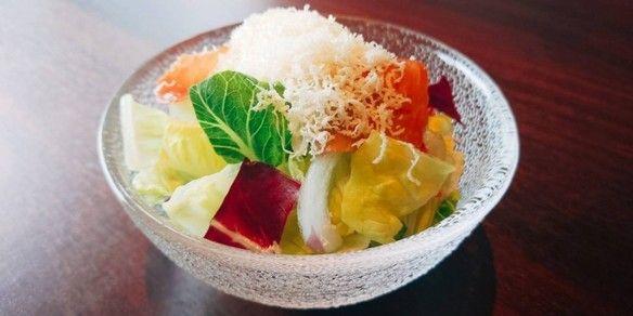 ハモンセラーノとパルメザンのサラダ (テイクアウト可)