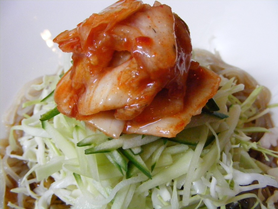 「本場韓国冷麺の」コリアンサラダ